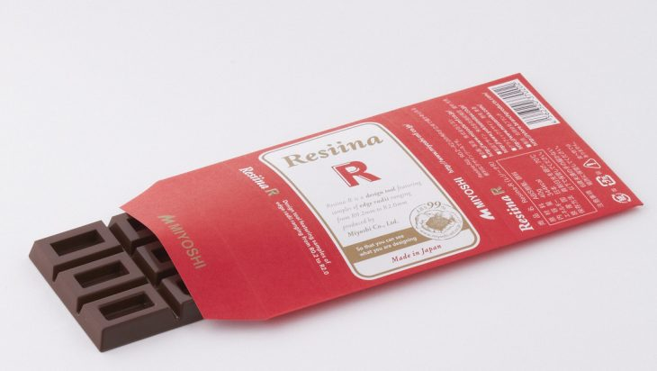 写真:ミヨシ 板チョコ型のRサンプル「Resiina(レジーナ)」