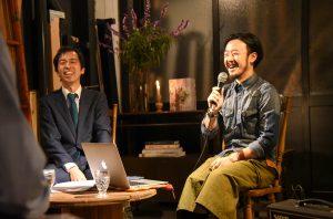 anima garage代表の福島慶太さん(右)と、メトロ設計の小林一雄さん