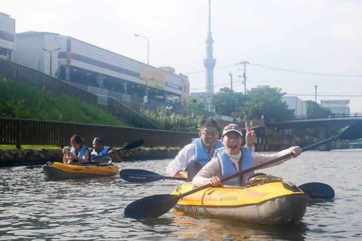 江東区は水の街。小名木川をはじめとした水路を巡るカヤックツアーは人気プログラム