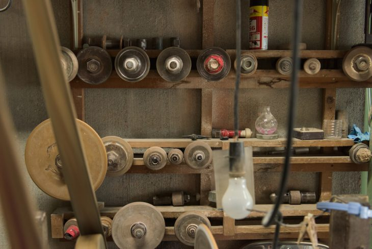 70年近く稼働している、雰囲気ある工場内
