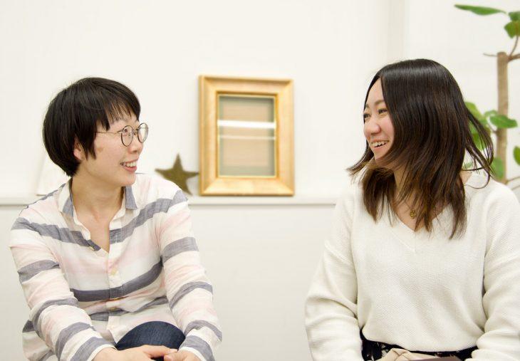 石山さん(左)と草野さん。それぞれの経験から、次のステップを目指して発展途上です