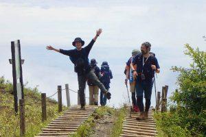 山登りサークル参加中の菊池さん。次回は「北アルプスの白馬岳に行く予定なんです」とのこと(写真:菊地さん提供)