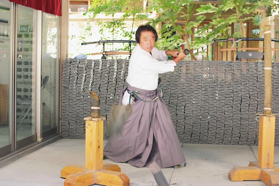 2019年5月より開始した「居合抜刀カタナバ」の剣士 松本さん。